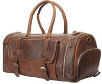 Leather Men's Travel Duffle Luggage Bag