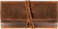 Leather Pencil/Pen Roll Up Pouch