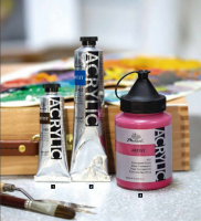 Artist Acrylic Paint Fine Quality 50 Colors Painting Art Non-Toxic Packing