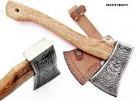 Custom Handmade Stainless Steel Axe-Gorgeous and Solid Wood Handle