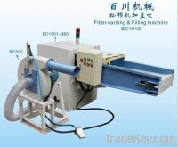 Fiber Carding & Filling machine