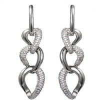 fashion white gold plated hanging earrings jewelry