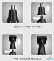 4in1 Aluminum Shell Rechargeable Beard & Nose Trimmer set VN-3007