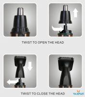 4in1 Aluminum Shell Beard & Nose Trimmer set VN-3008