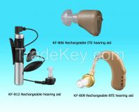 Rechargeable hearing aid audiphone