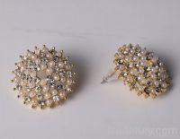 Rhinestone Ball Stud Earrings