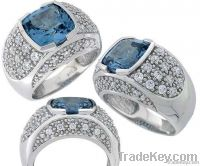 Fashion Sterling Silver CZ Ring