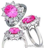 2011 new fashion 925 sterling silver cz ring(24703PKW)