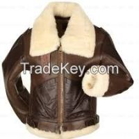 Fur lining winter Leather Jackets