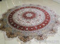 Round Silk Carpet Handknotted Shanghai China