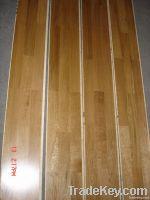 three layer three strip wood flooring in oak, walnut , maple, cherry