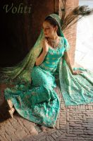 bridal wear and sandals