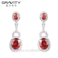 Gravity Custom luxury style cz zirconia imitation silver jewelry set