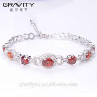 Gravity Custom luxury style cz zirconia imitation silver jewelry set