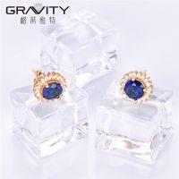 TZXG0087 Gravity fashion Dubai Unique Elegant Blue Stone 18K Gold Body Jewelry Set Factory Direct Price For Ladies Jewelry set
