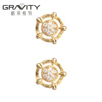 ESDG0018 Gravity Cheap Wholesale new design 18k gold  Stud Earrings