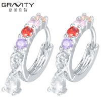 ESQS0012 Gravity Latest design 925 sterling silver/Platinum made with zircon