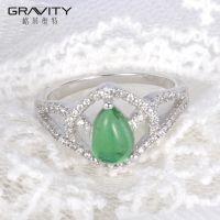 fashionable women bridal set white gold custom  big diamond vintage celtic wedding rings with stone