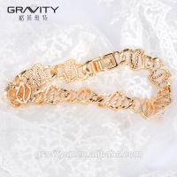 Best selling products fashion jewelry handmade 22k gold plated charm bracelet