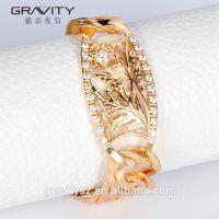 Lastest simple design jewelry accessories gold bangle bracelet for women
