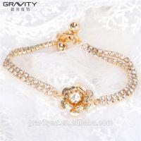 fashionable custom gemstone gold bracelet jewelry for girls
