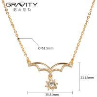 Gravity wholesales latest design saudi  women's 18k/24k long chain gold necklace