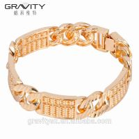 2017 new indian style 24K gold bracelet designs without stone for men