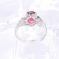 wholesale fashion latest design copper 18k white gold ring jewelry, saudi pakistan engagement 18k white gold ring