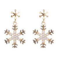 2017 wholesale 18k gold earrings jewelry set latest design of zircon pendant earrings for women