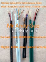RG59-2C Siamese Cable, CCTV Cable KX6-2C, Camera Cable RG59 2c