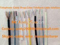 2 Pair Telephone Cables UTP Cat3, Telephone Drop Wire, Telecom Cable, Cabo Telefone, cable telefono