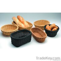 washable poly rattan serving baskets
