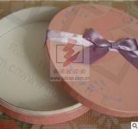 rolled edge round paper box