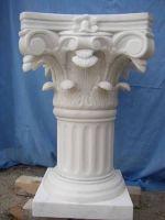 white marble column