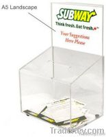Acrylic Suggestion Boxes