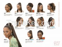 Synthetic Draw string Pony Tail wig