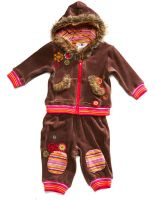 set garment, can hood the warm for kids
