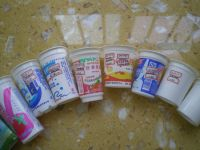 yogurt cup  , disposable cup , plastic cup , paper cup