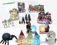 2013S Christmas Items house and village with led lights and fiber opti