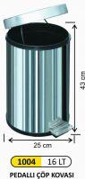 16 LT PEDAL BIN STAINLESS STEEL