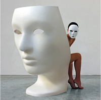 Creative fiberglass Nemo mask face chair For living room chairs