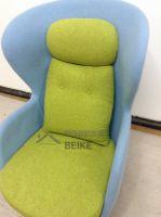 Fiberglass Shell Fabric Upholstered RO lounge chair for living room