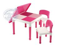 2-in-1 Table & Chair Set Lego & Duplo compatible