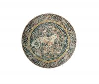handcut mosaic marble medallion