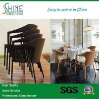 Cheap Restaurant Use High Quality rattan dining chair