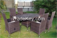 Cheap Restaurant Rattan Furniture Dining Table and Chairs Set  C677