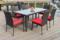 Patio garden PE rattan table and chair set C287