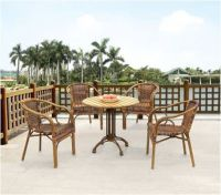 Hot Sale Rattan Furniture Outdoor Table and Chair for Coffee Shop C686