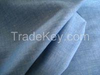 Linen Cotton Fabric Chambery Yarn Dyed Interweaved Fabric