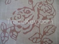 Pure Linen Burn Out Fabric Flax Fabric